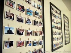 Using some wire to turn old poster frames into modern collage frames with interchangeable pictures.