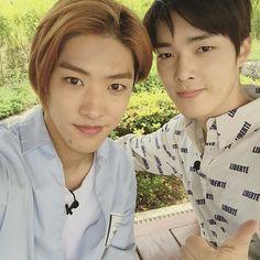 Takuya & Yongseok @touravatar : « Welcome to Sancheong boys! #TourAvatar #YONGSEOK #TAKUYA #CROSSGENE »