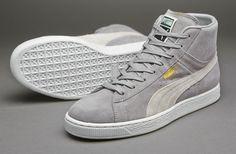 4dddce6626a0 Puma Suede Mid Classic+ - Mens Selecct Footwear - Limestone Grey-White