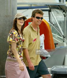 Crown Prince Frederik and Princess Mary on the docks at the CYCA after the Farr 40 racing off Sydney this afternoon on 26 February 2005. SHD NEWS. Photo by Dallas Kilponen.