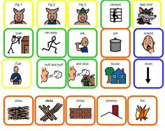 Three Little Pigs Topic Board (must be have a free Boardmaker Share account)