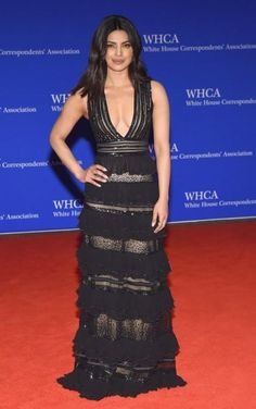 d03d29017c Yay or Nay  Priyanka Chopra in a sheer ruffle gown at the White House  Correspondents  Association Dinner