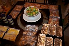 Freezer chicken nuggets, meatloaf, beef stew and apple pork chops