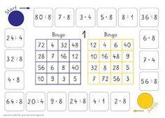 einmaleins bingo brettspiel mathe grundschule pinterest math school and montessori math. Black Bedroom Furniture Sets. Home Design Ideas