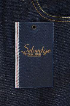 Selvedge by zara jeans Creative Labels by Álvaro Prego, via Behance