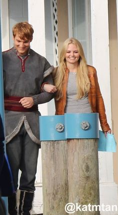 Scott Michael Foster & Jennifer Morrison on the set of Once Upon A Time - October 9, 2014