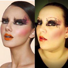 Diseño de maquillaje forman la plantilla Layout Make up Vorlage schminken Halloween Face Makeup, Make Up, Template, Plants, Submission, Makeup, Beauty Makeup, Bronzer Makeup