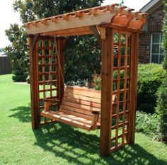 The pergola kits are the easiest and quickest way to build a garden pergola. There are lots of do it yourself pergola kits available to you so that anyone could easily put them together to construct a new structure at their backyard. Diy Pergola, Small Pergola, Pergola Attached To House, Outdoor Pergola, Pergola Lighting, Cheap Pergola, Wooden Pergola, Pergola Shade, Pergola Ideas