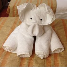 Towel art makes me smile