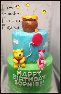 Winnie the Pooh | Little Delights Cakes// Got to check out this site, she has many good tips!!
