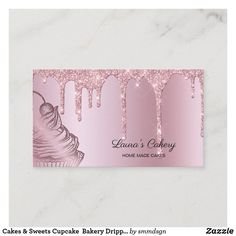 Bakery Business Cards, Business Card Size, Frost Bakery, Personalised Cupcakes, Cupcake Bakery, Home Bakery, Bakery Logo, Christmas Card Holders, Paper Texture