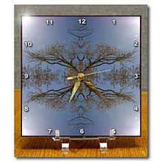 Tree Vines Illuminated Desk Clock