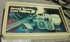 vintage Miller Lite beer sign rectangular Great Taste ... Less Filling