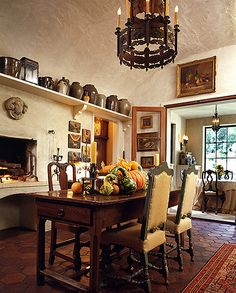 European style in Atlanta Home  ...Joane and Norman Askins' Italian style villa