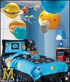 outer space decor | Planets and outer space travel decorating ideas