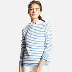 Women's Striped Long Sleeve Boat Neck T-Shirt - sold out, but I love the layering and the variegated stripes.