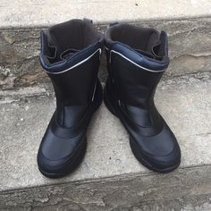 Lands End Boys waterproof boots Waterproof .. Worn once  Lands' End Shoes Winter & Rain Boots