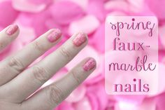 How To: Spring Faux-Marble Nails (EASY!)
