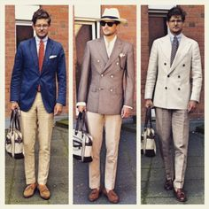 http://chicerman.com  kleidsam:  Three different summer looks one nurse  Pick your fave!  #menswear #mensweardaily #style #fashion #instastyle #instafashion #kleidsam #wiwt #ootd #SUITSUPPLY #sosr #mtm #madetomeasure #sonsofsavilerow  #MENSUIT #TAILORSUIT