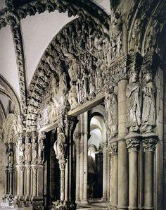 Pórtico da Gloria. Catedral de Santiago de Compostela. (A Coruña). Portico de la Gloria