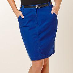 DYT Type 4 skirt: Belted Knee-Length Skirt - Sodalite Blue (Target)