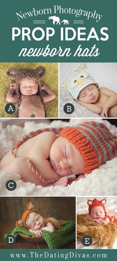 Newborns Prop Ideas using Hats