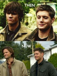 Then now  Sam ans Dean Sam And Dean Winchester, Winchester Brothers, Sam Dean, Destiel, Supernatural Fans, Supernatural Seasons, Nothing's Changed, Boyish, Babies