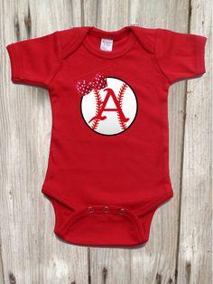 Razorback  Baseball Bodysuit for Baby Girl by IsaacOriginalDesigns on Etsy