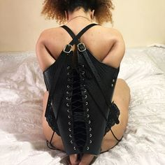 Restritor Bondage Armbinder Lacing BDSM LUXURY Backless, Luxury, Lace, Leather, Accessories, Dresses, Fashion, Natural Leather, Real Leather