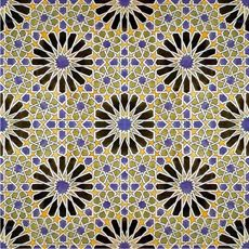 Alhambra Palace, Granada Spain. 15th Century. Moorish Design. Mosaic ceramic tiles.