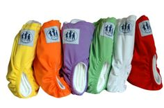 TLI Premium Range Cloth Diapers (Including 2 Inserts Per Diaper) - Set of 12 One size fits all reusable pocket Diapers to fit all shapes and sizes between 3-13 kg (All Diapers come with 6 month Guarantee - see Product Description). Soft and easy to clean.  colors in set: 2 each of Red, Orange, Green, Yellow, White and Purple  - thats 12 Diapers and 24 inserts per Set. Outer layer: Quick drying w... #Three_Little_Imps #Baby_Product Buy it from us at http://www.threelittleimps.com