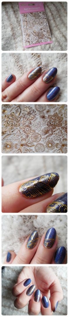 $3.11 1 Sheet Embossed 3D Nail Stickers Rose Flower 3D Nail Art Stickers Decals #BP054 - BornPrettyStore.com