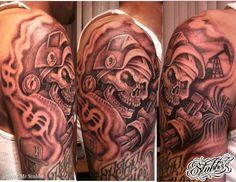 welder tattoo skull welder tattoo