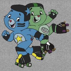 """""""Roller Derby Care Bears """" T-Shirts & Hoodies by altair4   Redbubble"""