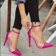 Buy 2018 Fashion Sandals Women Pumps European Style Booties Ladies Sexy High Heels Shoes Woman at Wish - Shopping Made Fun Pink High Heels, Super High Heels, Hot High Heels, High Heels Stilettos, Womens High Heels, Women's Pumps, Stiletto Heels, Shoes Heels, Shoes Sneakers