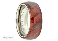 8mm  Domed Titanium Ring Mens Titanium Wedding by RingsParadise