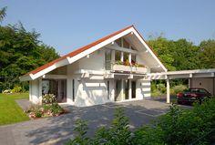 Kundenhaus - Düsseldorf | Außenansicht bei Tag - Eingangsbereich - 1 | Finden sie mehr Informationen zu diesem Kundenhaus auf http://www.davinci-haus.de/haeuser-standorte/kundenhaeuser/duesseldorf/