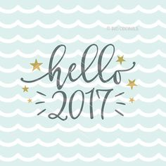 Happy New Year 2017 SVG Hello 2017 SVG Vector by SVGOriginals