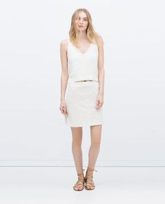 Image 1 of MINI SKIRT from Zara
