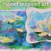 Monet Inspired Art - Discover and learn the technique and color application done by Claude Monet. Students will experience using color washes with direct application overlaid coloring while gaining an understanding of Monet's art style and special artistic vision.
