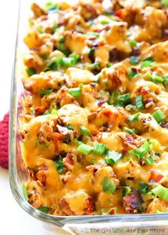 Buffalo Chicken and Potato Casserole - The Girl Who Ate Everything