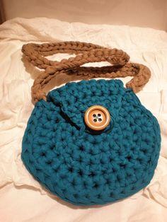 Bolso de trapillo, color turquesa