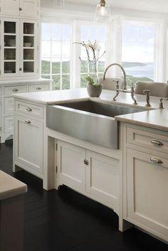 Stainless Steel Farmhouse Style Kitchen Sink Inspiration