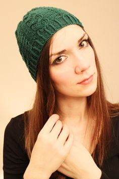 Beanie knitted with 100% Merino wool