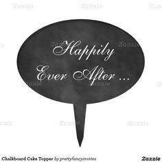 Chalkboard Cake Topper