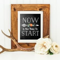 A free printable reminder to stop planning and start doing!