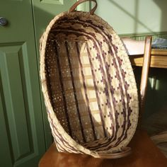 Whether centerstage in your great room or holding extra quilts at the foot of your bed, this basket will add intrique and charm to your home's decor. Basket Weaving, Hand Weaving, Bushel Baskets, Bamboo Crafts, Gourd Art, Storage Baskets, Hanging Chair, Great Rooms, Fiber Art