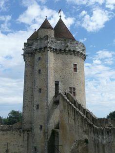 Blandy Castle in village of Blandy-les-Tours (Seine-et-Marne) France