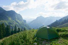 Camping avec vue. Suisse.