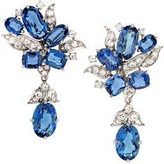 1STDIBS.COM Jewelry & Watches - Stunning Aquamarine and Diamond... ❤ liked on Polyvore